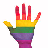 Χρωματισμένο χέρι Στοκ Εικόνες