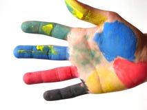 χρωματισμένο χέρι Στοκ φωτογραφίες με δικαίωμα ελεύθερης χρήσης