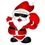 χρωματισμένο χέρι santa Claus Στοκ Εικόνες