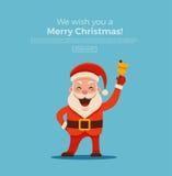 χρωματισμένο χέρι santa Claus διανυσματική απεικόνιση
