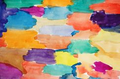 χρωματισμένο χέρι watercolor ανασκό&pi στοκ φωτογραφίες με δικαίωμα ελεύθερης χρήσης