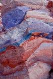 χρωματισμένο χιόνι Στοκ Εικόνες