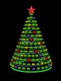 χρωματισμένο Χριστούγενν&al Στοκ Εικόνες