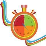 χρωματισμένο χρονόμετρο με διακόπτη Στοκ Φωτογραφία