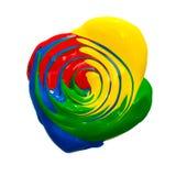 Χρωματισμένο χρώμα κύκλων Στοκ εικόνα με δικαίωμα ελεύθερης χρήσης
