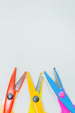 Χρωματισμένο ψαλίδι με Στοκ Εικόνες