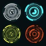 Χρωματισμένο ψηφιακό σύνολο κύκλων Στοκ εικόνα με δικαίωμα ελεύθερης χρήσης