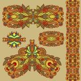 Χρωματισμένο floral διακοσμητικό σχέδιο διακοσμήσεων Στοκ φωτογραφία με δικαίωμα ελεύθερης χρήσης