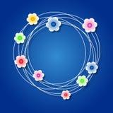 Χρωματισμένο floral στεφάνι Στοκ φωτογραφία με δικαίωμα ελεύθερης χρήσης
