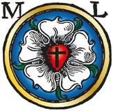 Χρωματισμένο Luther αυξήθηκε ξυλογραφία Στοκ εικόνα με δικαίωμα ελεύθερης χρήσης