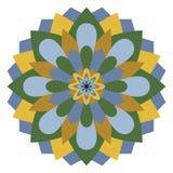 Χρωματισμένο mandala ή κυκλικό σχέδιο Στοκ Φωτογραφία