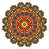 Χρωματισμένο mandala ή κυκλικό σχέδιο διανυσματική απεικόνιση