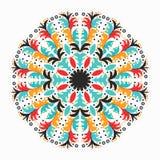 Χρωματισμένο mandala το πρόσθετο διακοσμητικό στοιχείο eps σχεδίου 8 σχηματοποιεί το σας διανυσματική απεικόνιση