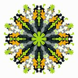 Χρωματισμένο mandala το πρόσθετο διακοσμητικό στοιχείο eps σχεδίου 8 σχηματοποιεί το σας Στοκ Φωτογραφία