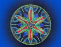 Χρωματισμένο mandala Στοκ Εικόνα