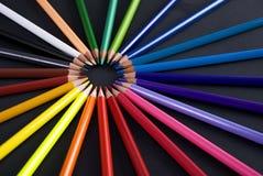 Χρωματισμένο Penciles Στοκ Φωτογραφίες