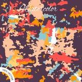Χρωματισμένο Watercolor υπόβαθρο σχεδίου σημείων Στοκ Εικόνα