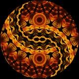 Χρωματισμένο Ying Yang Στοκ εικόνα με δικαίωμα ελεύθερης χρήσης