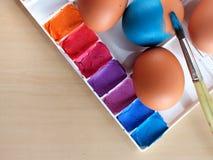 Χρωματισμός αυγών Στοκ Εικόνες