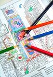 χρωματισμός βιβλίων Στοκ εικόνα με δικαίωμα ελεύθερης χρήσης