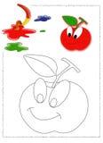 χρωματισμός μήλων Στοκ εικόνα με δικαίωμα ελεύθερης χρήσης