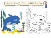 χρωματισμός παιδιών Στοκ εικόνα με δικαίωμα ελεύθερης χρήσης