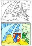 Χρωματισμός παιδιών Διανυσματική απεικόνιση