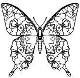 Χρωματισμός πεταλούδων για τα παιδιά και τους ενηλίκους για τις στιγμές της χαλάρωσης στοκ φωτογραφία με δικαίωμα ελεύθερης χρήσης
