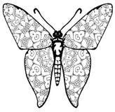 Χρωματισμός πεταλούδων για τα παιδιά και τους ενηλίκους για τις στιγμές της χαλάρωσης στοκ φωτογραφίες με δικαίωμα ελεύθερης χρήσης