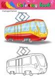 Χρωματισμός του τραμ απεικόνιση αποθεμάτων