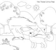 Χρωματισμός τριών μικρών χοίρων 4: ο μεγάλος κακός λύκος Στοκ φωτογραφίες με δικαίωμα ελεύθερης χρήσης