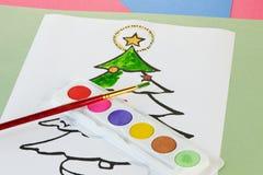 Χρωματισμός Χριστουγέννων Στοκ Εικόνες