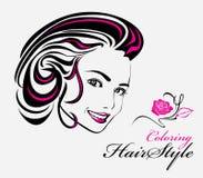 Χρωματισμός Hairstyle Στοκ εικόνα με δικαίωμα ελεύθερης χρήσης