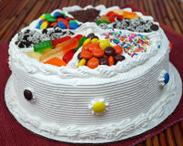 Χρόνια πολλά κέικ Στοκ Εικόνες