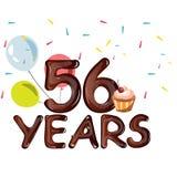 Χρόνια πολλά πενήντα έξι 56 έτος Ελεύθερη απεικόνιση δικαιώματος