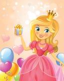 Χρόνια πολλά, πριγκήπισσα, ευχετήρια κάρτα Στοκ Εικόνα