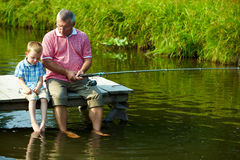 χρόνος αλιείας Στοκ εικόνες με δικαίωμα ελεύθερης χρήσης
