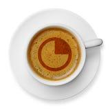 Χρόνος για έναν καφέ Στοκ φωτογραφία με δικαίωμα ελεύθερης χρήσης
