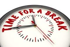 Χρόνος για ένα σπάσιμο Ρολόι με το κείμενο ελεύθερη απεικόνιση δικαιώματος