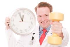 Χρόνος για ένα workout (έκδοση χεριών ρολογιών περιστροφής) Στοκ εικόνες με δικαίωμα ελεύθερης χρήσης
