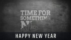 Χρόνος για κάτι νέα σημάδι και κείμενο καλής χρονιάς απόθεμα βίντεο