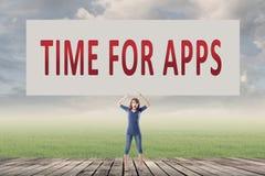 Χρόνος για τα apps Στοκ εικόνες με δικαίωμα ελεύθερης χρήσης