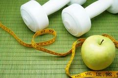 Χρόνος για την άσκηση και τη διατροφή Στοκ εικόνες με δικαίωμα ελεύθερης χρήσης