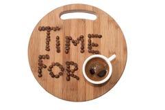 Χρόνος για την εικόνα έννοιας καφέ Στοκ Φωτογραφία
