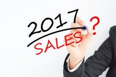 Χρόνος για την πρόβλεψη πωλήσεων για το 2017 Στοκ Εικόνες