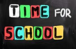 Χρόνος για τη σχολική έννοια Στοκ εικόνα με δικαίωμα ελεύθερης χρήσης