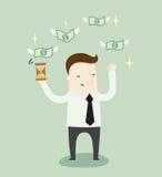 Χρόνος για το παθητικό εισόδημα διανυσματική απεικόνιση
