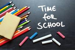 Χρόνος για το σχολείο στοκ εικόνες