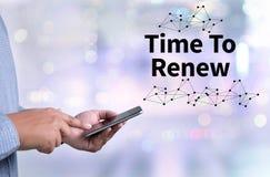 Χρόνος για το χρόνο δράσης να αλλάξει (χρόνος να ανανεώσει) Στοκ φωτογραφίες με δικαίωμα ελεύθερης χρήσης