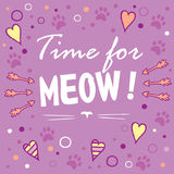 Χρόνος για meow! Στοκ εικόνες με δικαίωμα ελεύθερης χρήσης